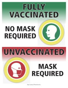 Sign for mask requirement