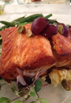 Salmon entree at Mechanicsburg area restaurant
