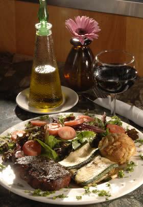 Steak and salad at a Carlisle restaurant